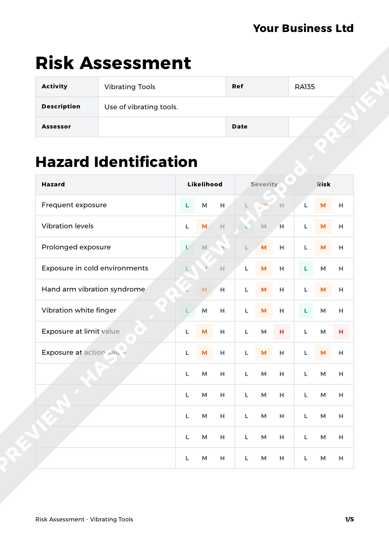 Risk Assessment Vibrating Tools image 1