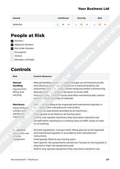 Risk Assessment Warehouse image 2