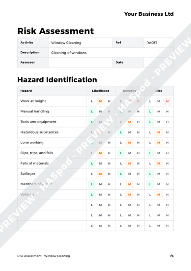 Risk Assessment Window Cleaning image 1