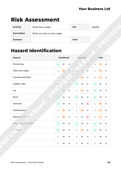 Risk Assessment Work Over Water image 1