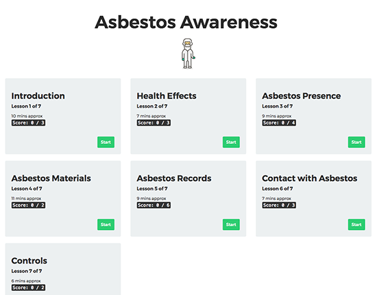 Asbestos Awareness elearning course image 1