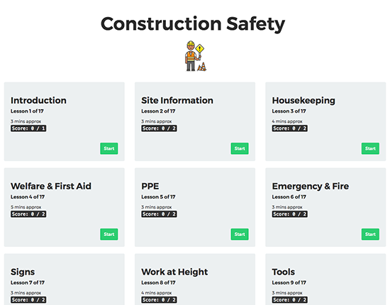 Construction Safety elearning course image 1