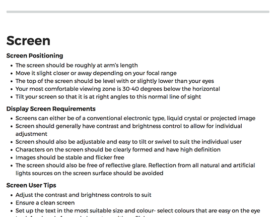 DSE Display Screen Equipment elearning course image 2