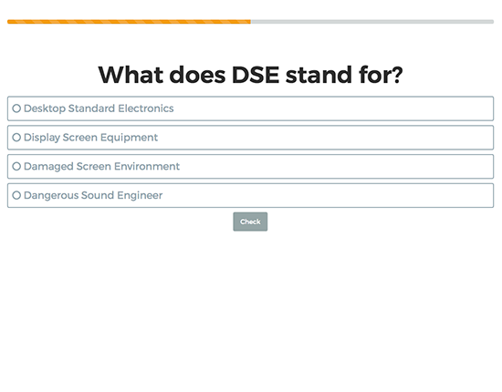 DSE Display Screen Equipment elearning course image 3