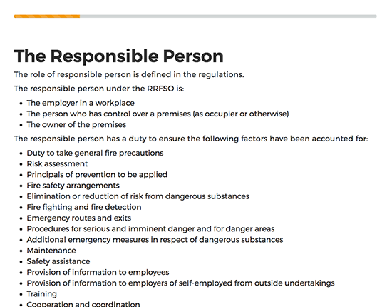 Fire Safety elearning course image 3