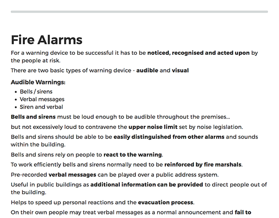 Fire Safety elearning course image 6