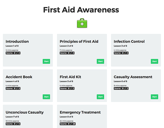 First Aid Awareness elearning course image 1