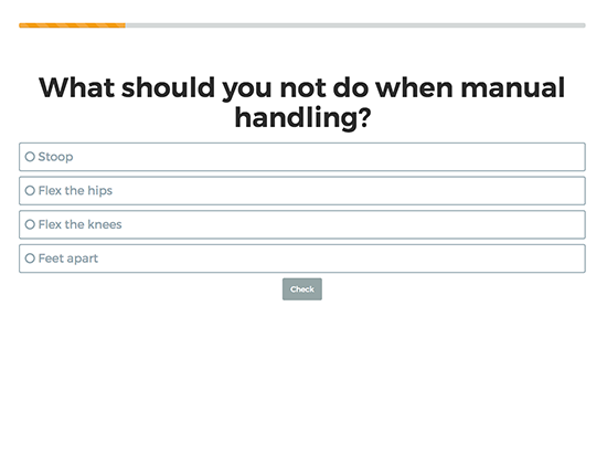 Manual Handling elearning course image 5