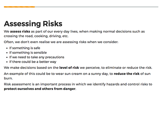 Risk Assessment elearning course image 2