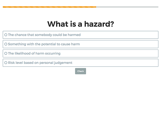 Risk Assessment elearning course image 3