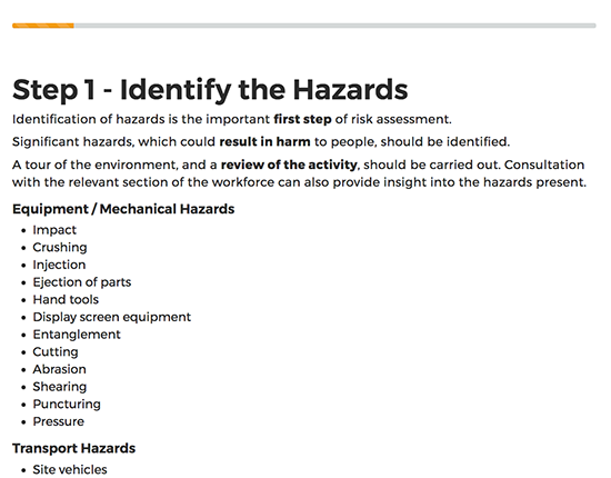 Risk Assessment elearning course image 4